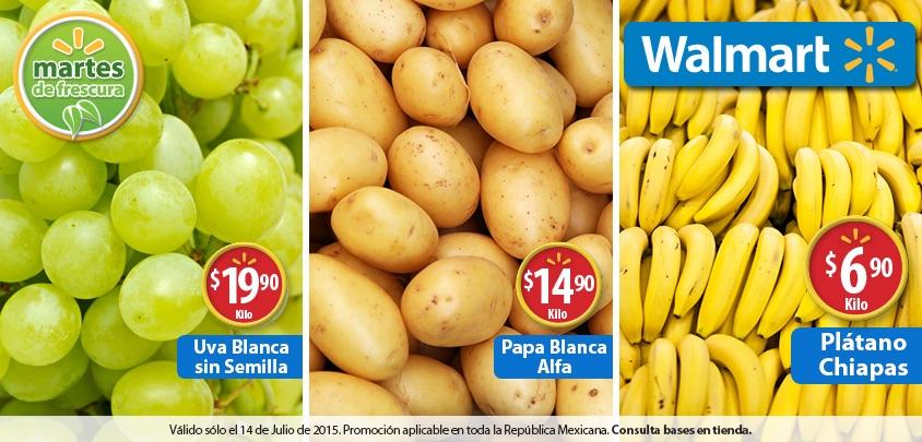 Walmart: Martes de frescura 14 de Julio 2015