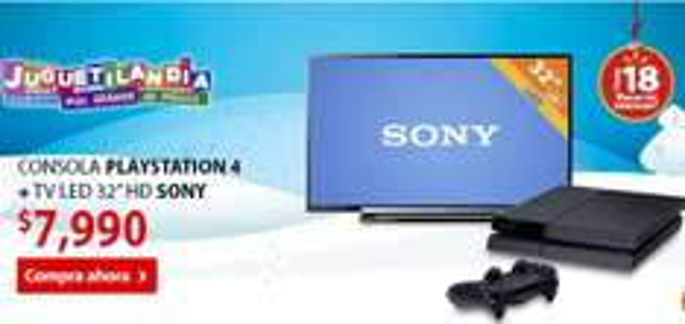 """Walmart: PS4 + pantalla LED Sony 32"""" a $7,990 y 18 meses sin intereses"""