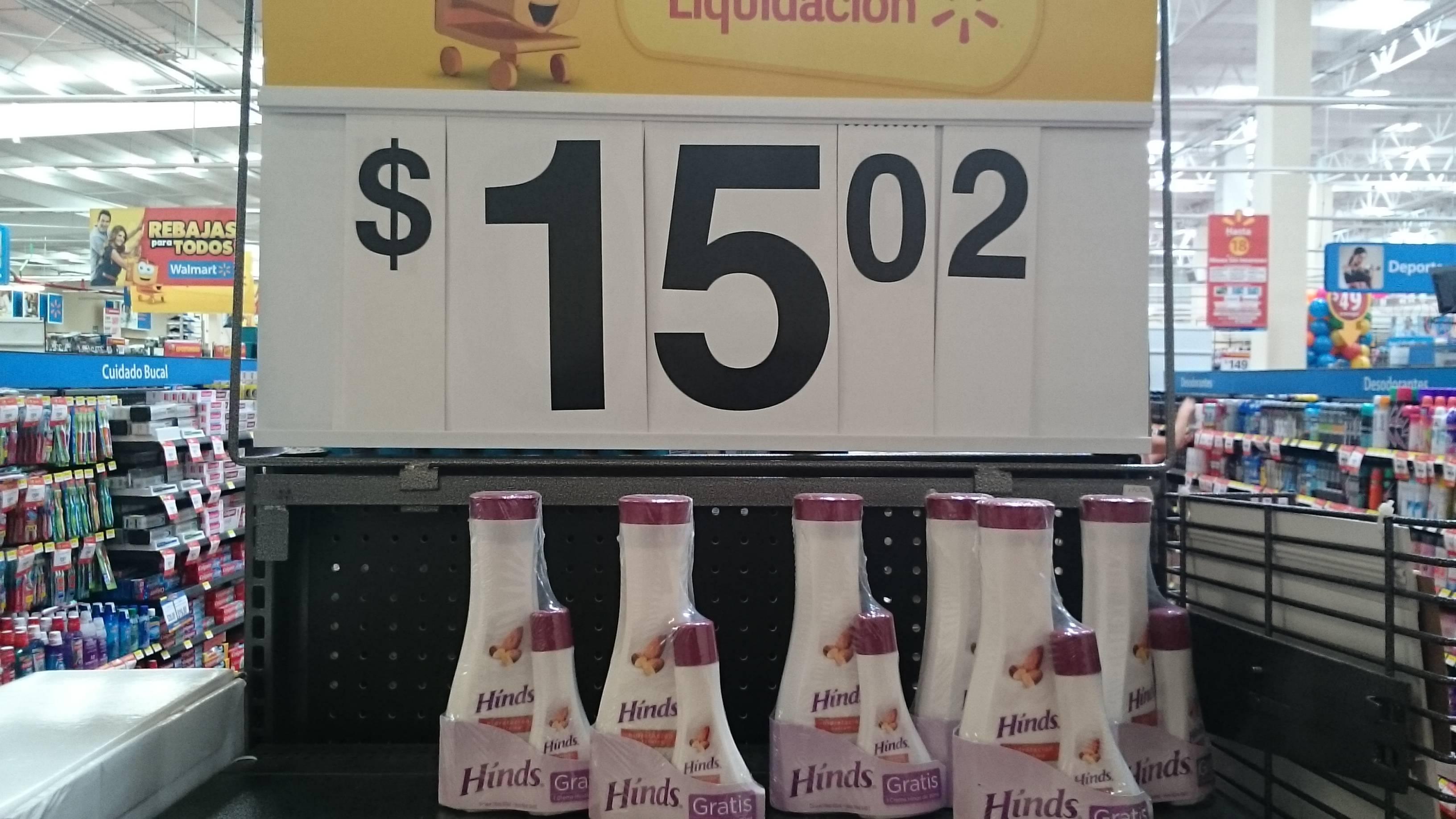 Walmart: Crema Hinds de almendras $15.02