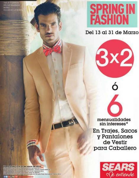 Sears: 3x2 en ropa formal de hombre