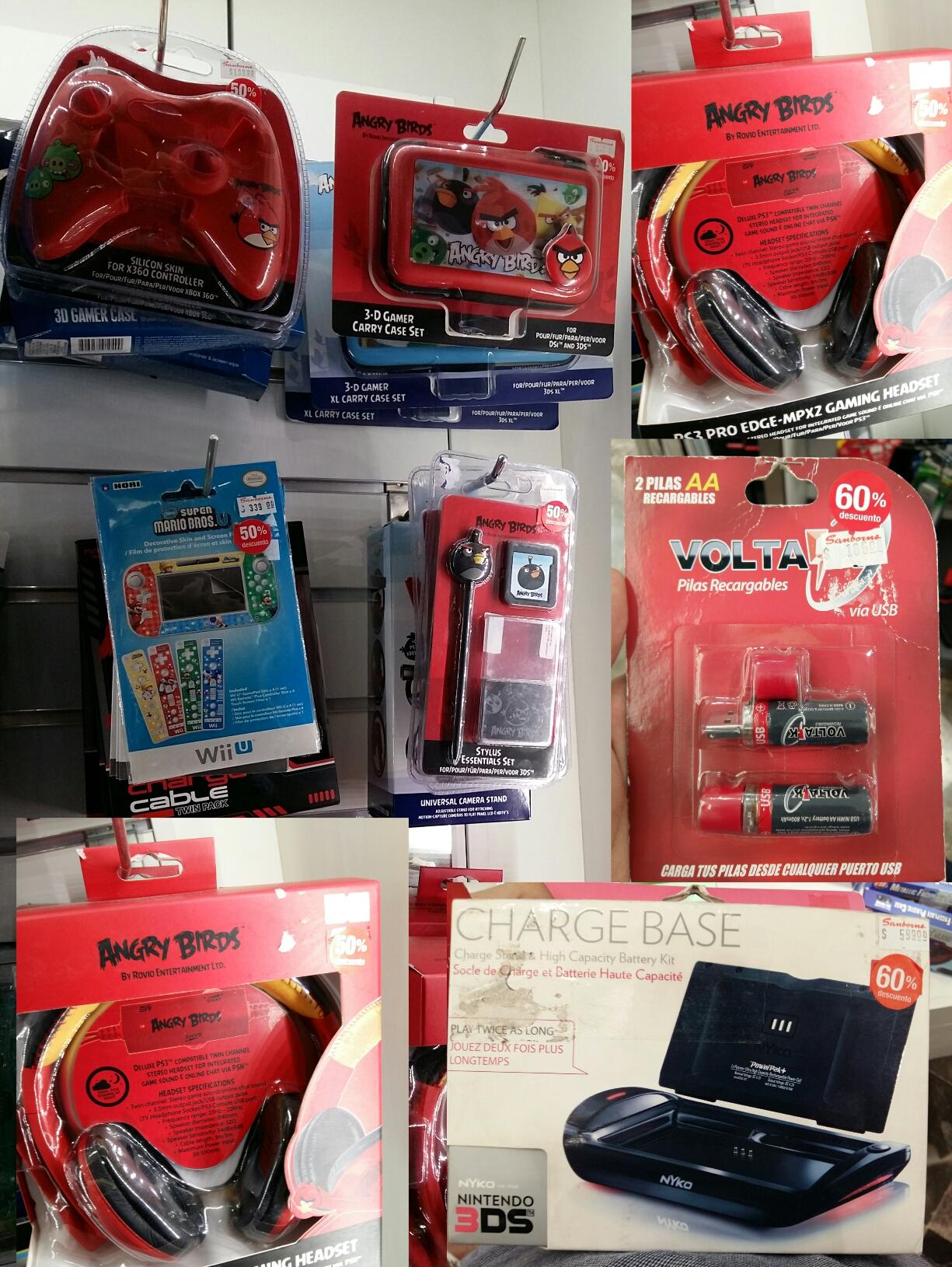 Sanborns: descuento en baterias y articulos Angry Birds