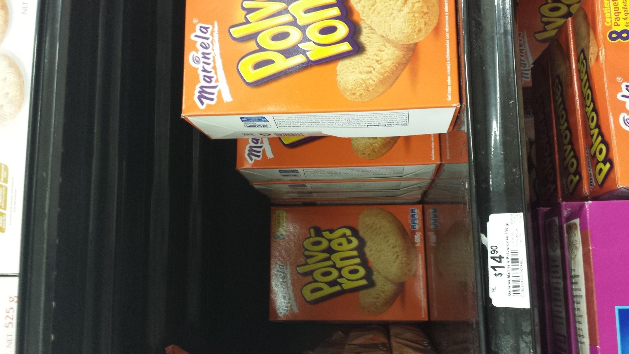 Chedraui: caja de galletas Polvorones a $14.90
