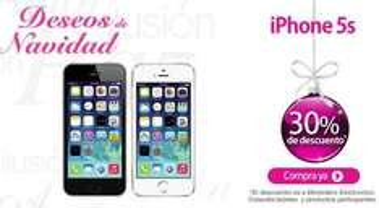 Liverpool: iPhone 5S $8,164, iPhone 5C $5,949, Galaxy S4 $6,999, Moto G $1,959 y +