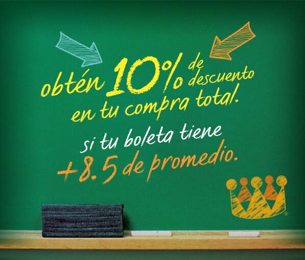 10% de descuento en compra total en Burger King