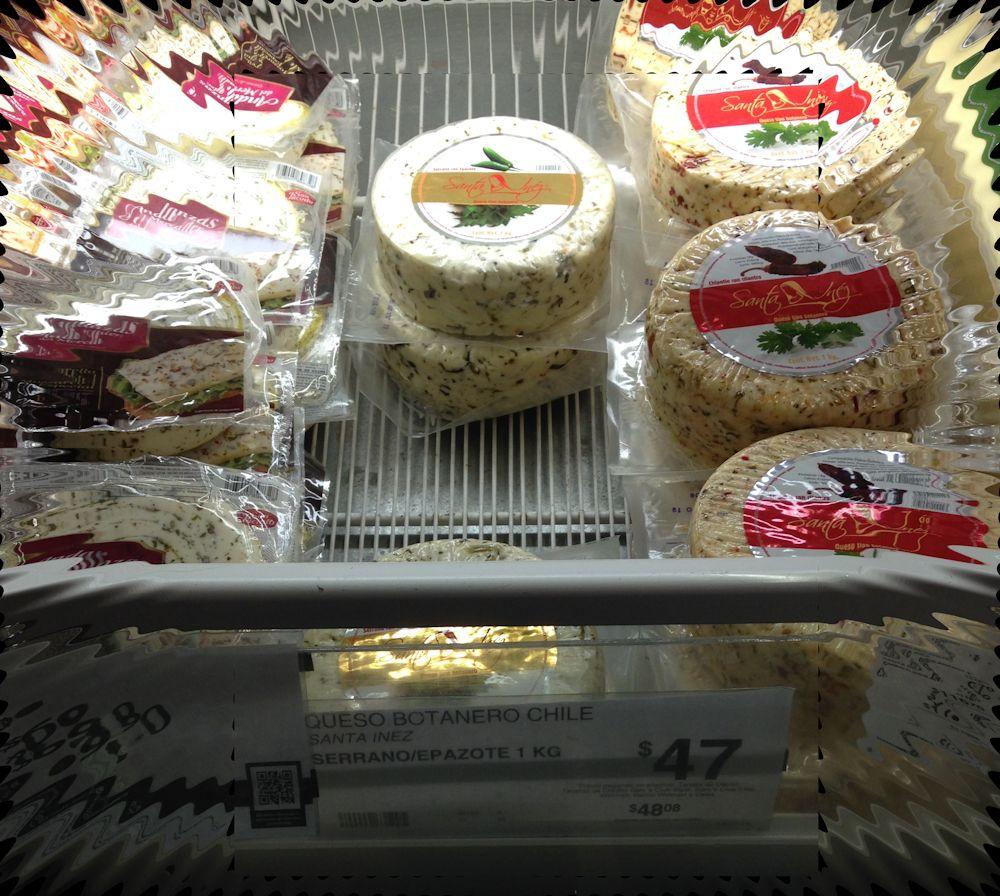Sam's Club: queso botanero con chile serrano y epazote 1k $47