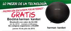 Office Depot: Bocina Harman/Kardon de regalo en compras mayores a $3,999