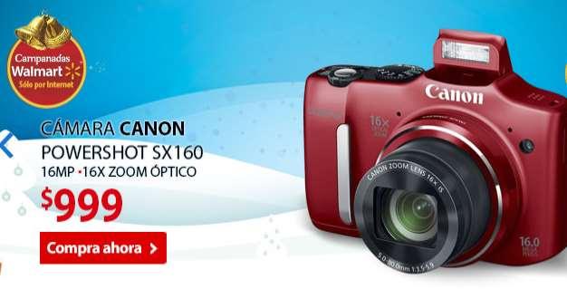 Campanadas Walmart diciembre 17: cámara Canon SX160 $999