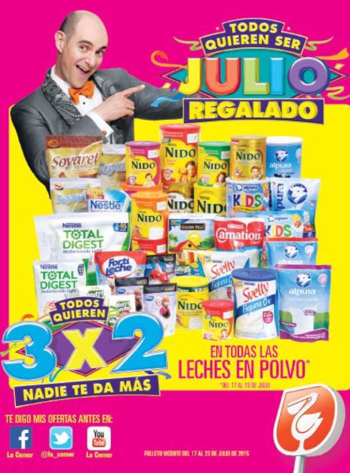Folleto de ofertas de Julio Regalado del 17 al 23 de julio en La Comer