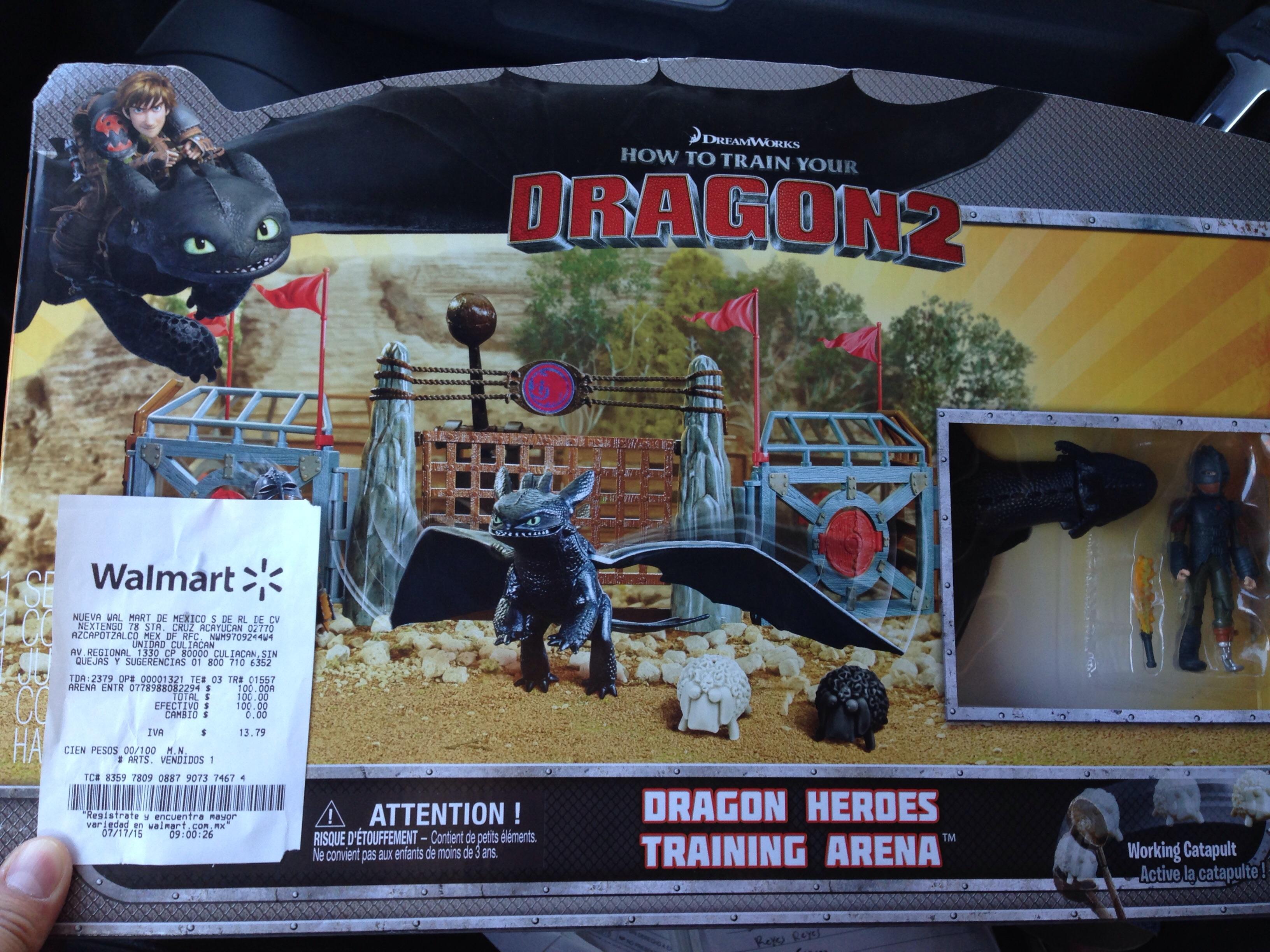 Walmart: arena entrenamiento entrenar dragón 2 $100