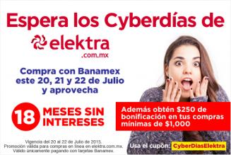 Elektra: $250 pesos de descuento en compras mínimas de $1000