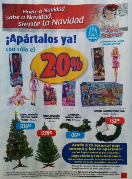 Folleto ofertas Farmacias Guadalajara del 16 al 31 de diciembre de 2013