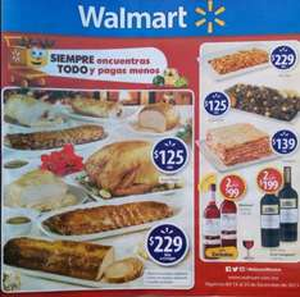 Folleto de ofertas en Walmart del 15 al 25 de diciembre