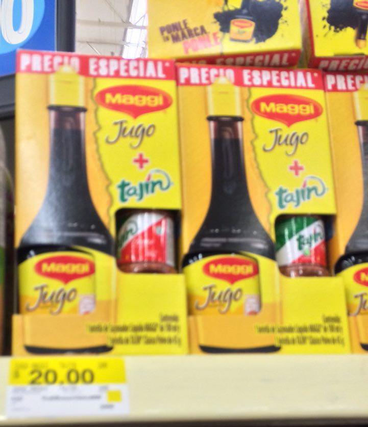 Walmart: Jugo sazonador Maggi 100 ml + Mini Tajín