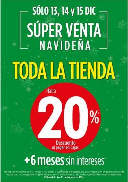 Super venta navideña Suburbia: 20% de descuento en ropa, 15% en celulares, electrónica y +