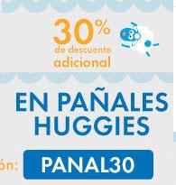 LINIO: 30% DE DESCUENTO EN PAÑALES HUGGIES CON CUPON