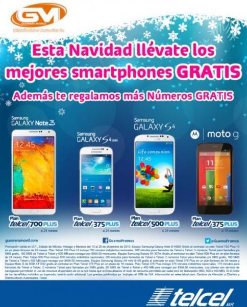 Telcel: Samsung Galaxy S4 gratis en plan de $499 al mes y Galaxy Note 3 en plan de $699