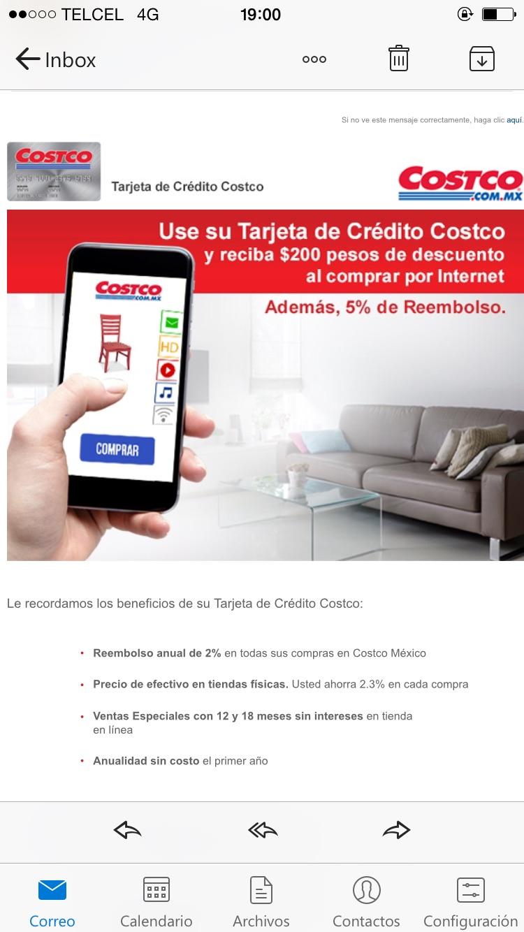 COSTCO. $200 de descuento en compras por internet.