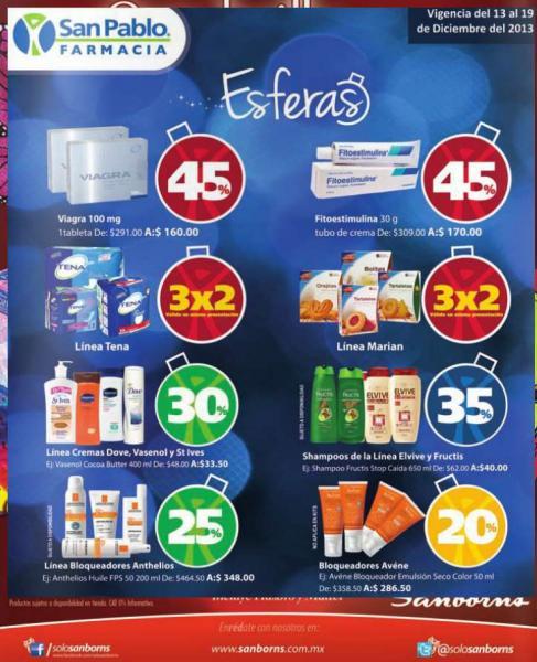 Farmacia San Pablo: 30% de descuento en cremas Dove y St Ives, 35% en marca Fructis y más