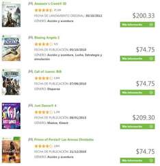 Xbox Live: Assassin's Creed 3 $200, Just Dance 4 $209, Scott Pilgrim $34 y más