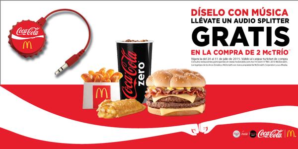 McDonald's: audio splitter gratis comprando McTríos