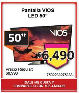 "Soriana: cupón para pantalla LED 50"" a $6,490 (pendiente, se necesita Facebook)"