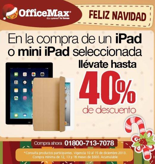 OfficeMax: hasta 40% de descuento en iPads seleccionadas
