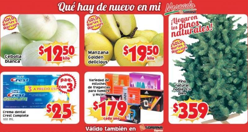 Ofertas de frutas y verduras Soriana 10 al 12 de diciembre: manzana $12.65 y más