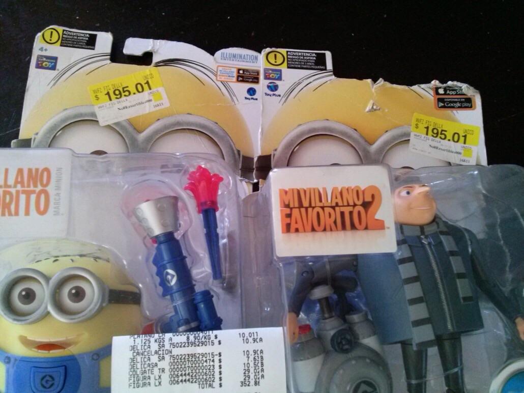 Bodega Aurrerá: Minio Jerry y Gru $29.02 cada uno