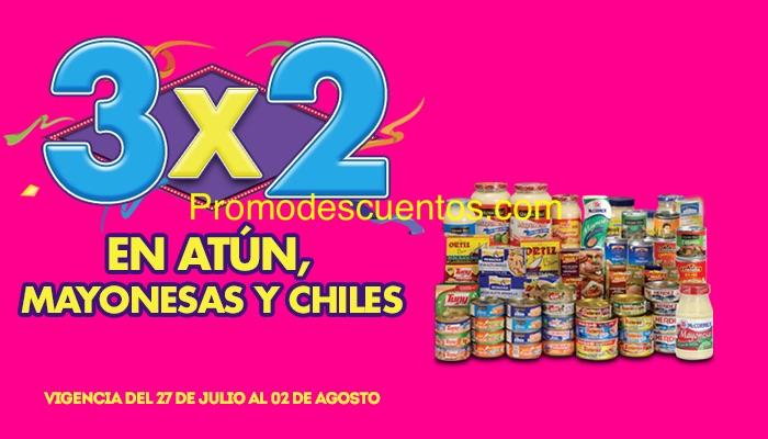 Ofertas de Julio Regalado 2015 en La Comer: 3x2 en atún, mayonesas y chiles (julio 27)