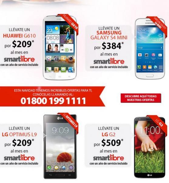 Iusacell: iPhone 5C $491 al mes, iPhone 5S $553, Galaxy S4 $575 y más