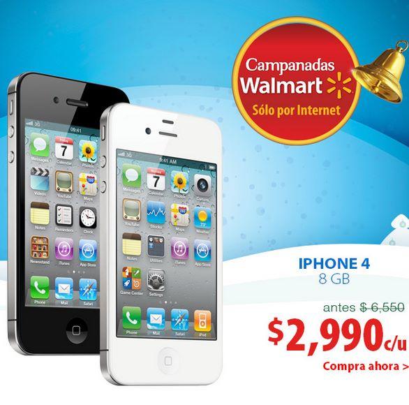 Campanadas Walmart 2013: iPhone 4 $2,999