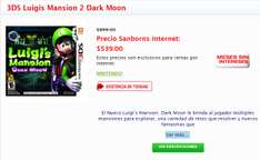 Sanborns: Juego 3DS Luigis Mansion 2 Dark Moon $539