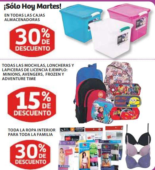 Soriana: 30% de descuento en todas las almacenadoras y ropa interior