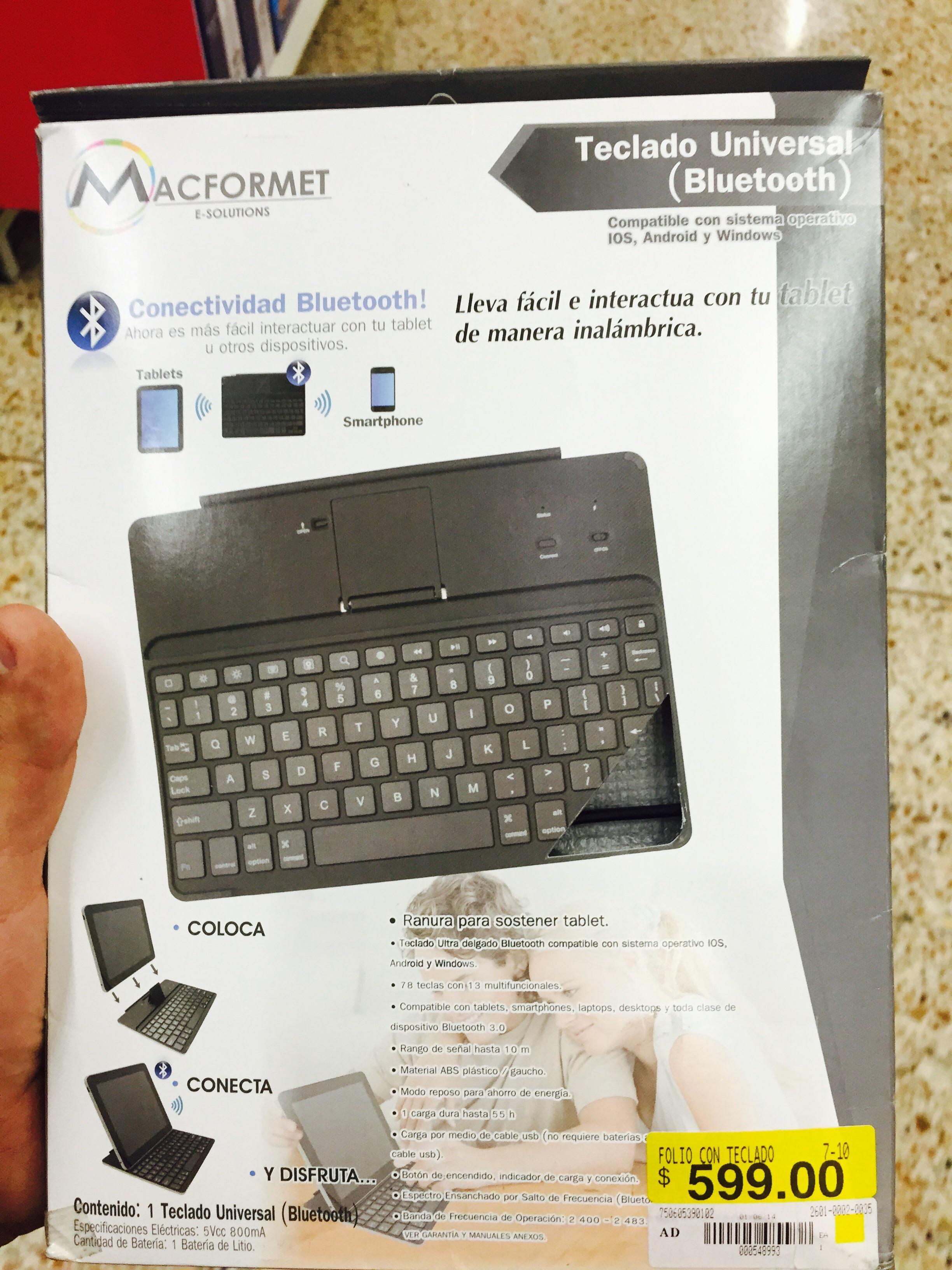 Walmart: Teclado Bluetooth universal marca Macformet de $599 a $59