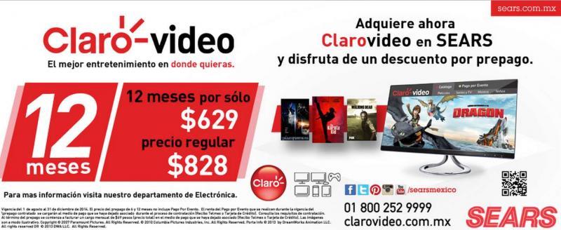 Clarovideo: 6 meses por $339 o 12 meses por $629