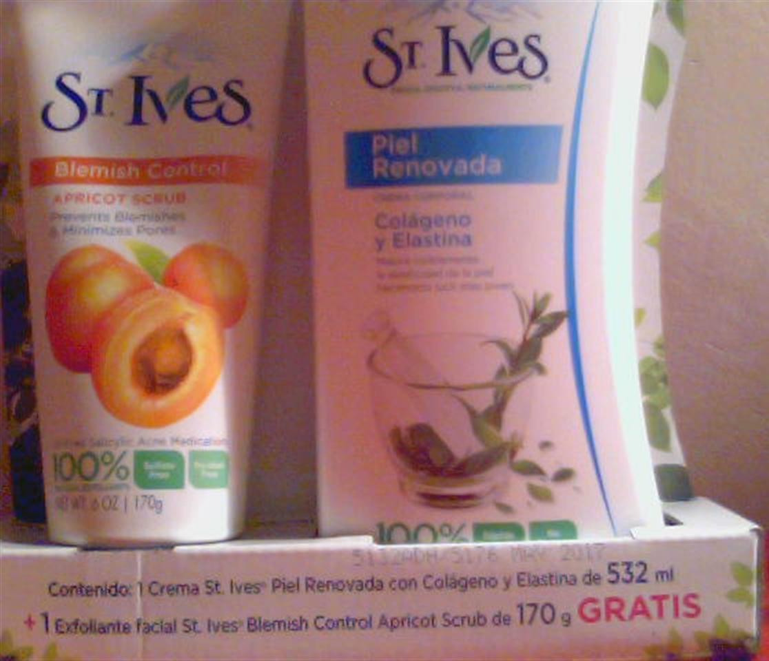 Walmart: crema corporal + exfoliante facial St Ives $44.90