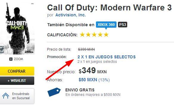 Blockbuster: 2x1 en casi 900 videojuegos (online y en tienda)