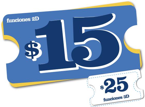 Cinépolis funciónes $15
