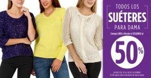 Suburbia: 2x1 y medio en suéteres de mujer