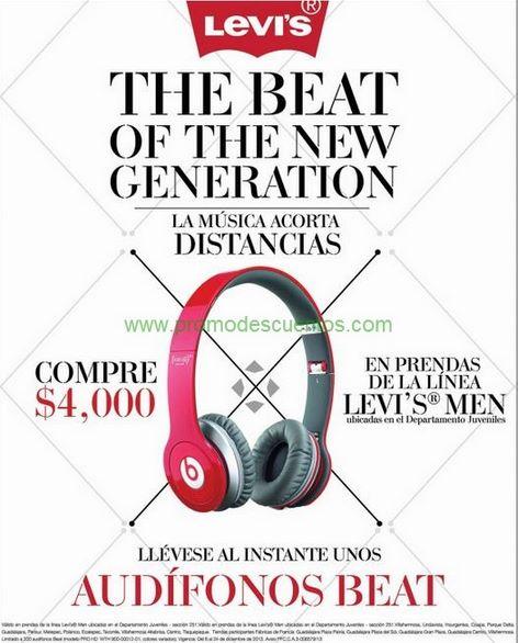 Liverpool y Fábricas de Francia: audífonos Beat gratis con compra mínima de Levi's Men
