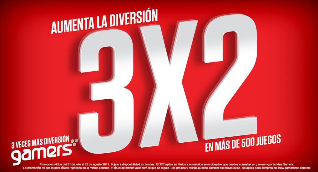 Gamers: 3x2 en videojuegos seleccionados