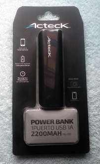 Walmart: Power Bank Acteck 2200mah Walmart a $69