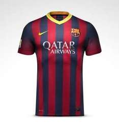 Groupon: jerseys de Barcelona y Manchester United 2013-2014 $399