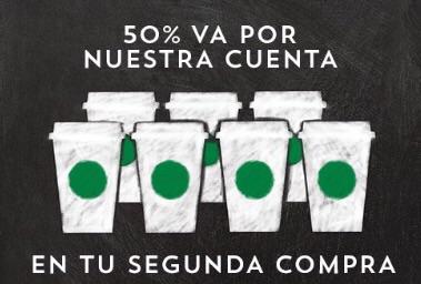 Starbucks: 50% de descuento en tu segundo consumo pagando con Visa