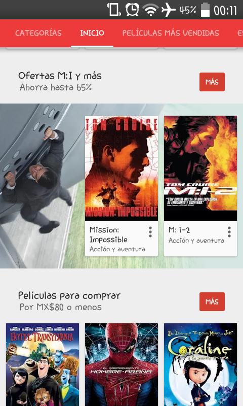 Google Play: películas de Misión Imposible en descuento