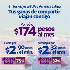 Paquetes de roaming internacional Telcel y Movistar