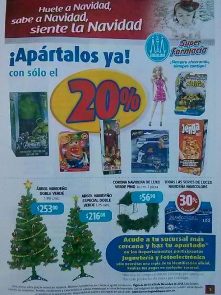 Folleto de ofertas Farmacias Guadalajara primera quincena diciembre 2013