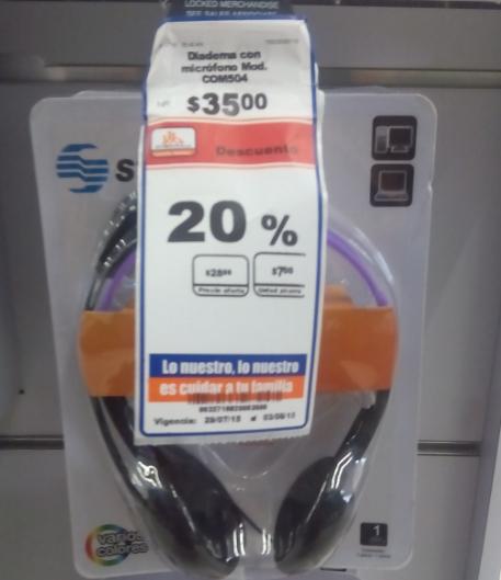 Chedraui: diadema con micrófono a $28 y fundas para netbook a $20 marca Steren