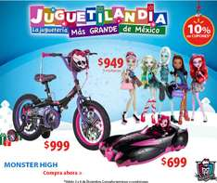 Walmart: bicicleta Monster High o princesas 16 $999, pantalla LED + Wii con Skylanders $3,499 y +