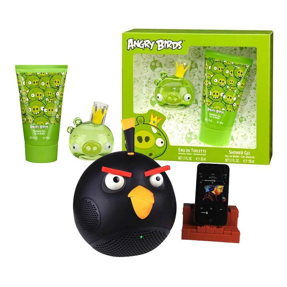 Walmart: Bocina Angry Birds + Set de loción con 3 piezas $690